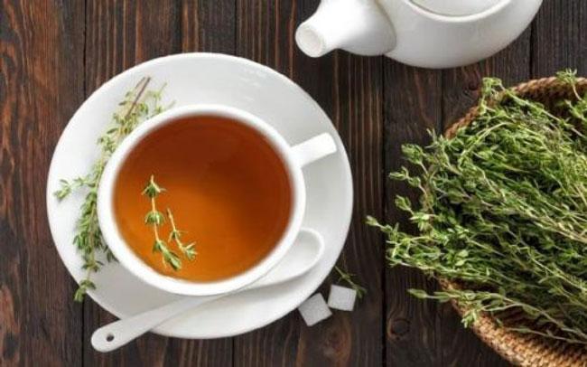 теплый чай с чабрецом